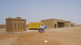 Onderhoudsgarage op voormalige Amerikaanse militaire compound in Gao, Mali. Foto: U.S. Army Corps of Engineers.